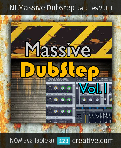 NI Massive Dubstep patches Vol. 1 - 123creative.com