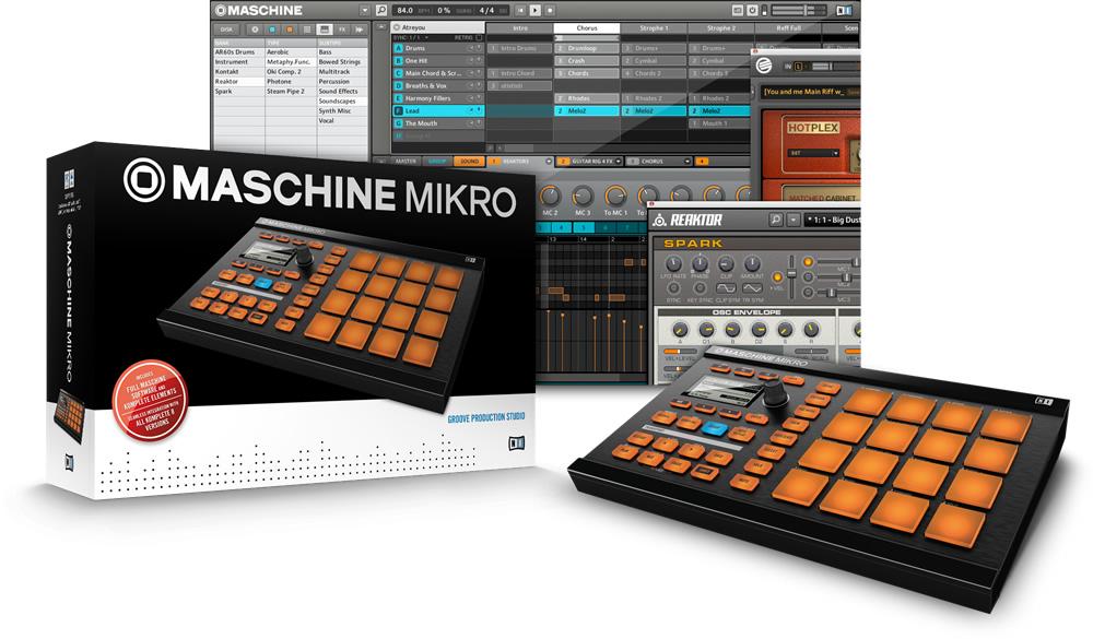 NATIVE INSTRUMENTS MASCHINE MIKRO MK2 MUSIC PRODUCTION STUDIO