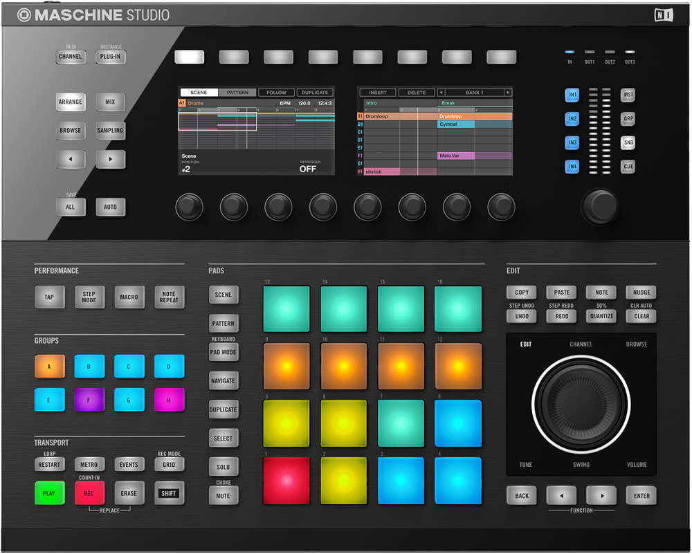 KVR: Native Instruments releases Maschine Studio and