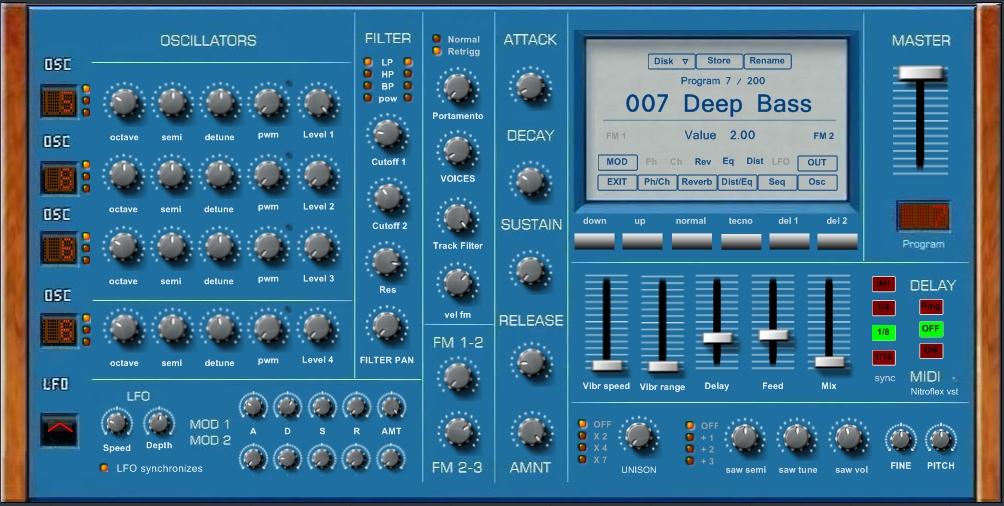 KVR: Synthblitz Audio updates Nitroflex to v1 3 (VST Win)
