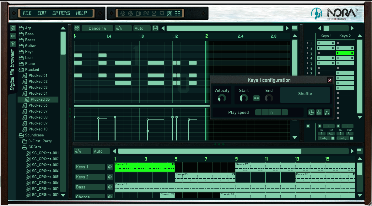 KVR: Nora by Squaredheads - MIDI Arpeggiator VST Plugin and