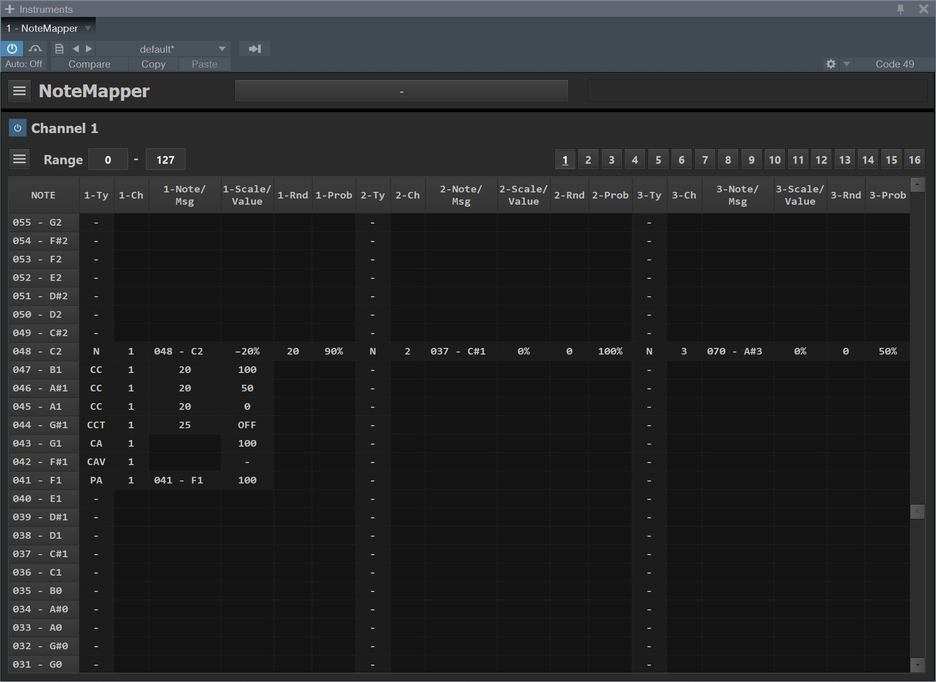 KVR: NoteMapper by CodeFN42 - MIDI FX / Utility VST Plugin on drama map, tiff map, micro map, sound map,