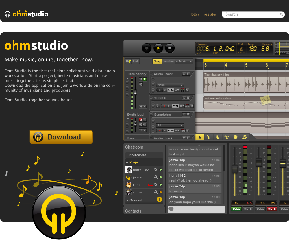 KVR: Ohm Studio by Ohm Force - Sequencer / Multitrack