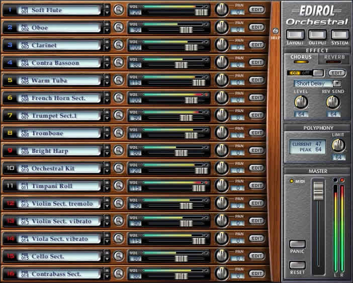 KVR: Orchestral by EDIROL - Sound Module VST Plugin and
