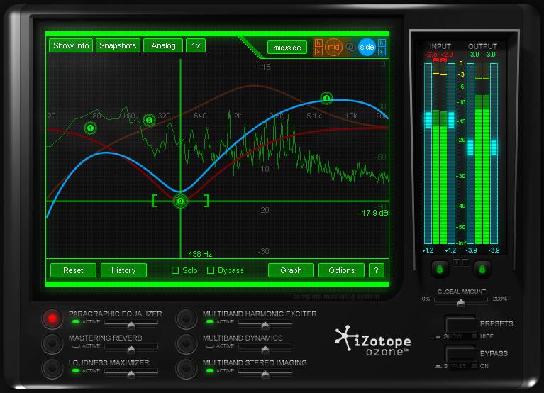 Интерфейс.png - Программы, Аудиоплееры, Работа с медиа iZotope Ozone