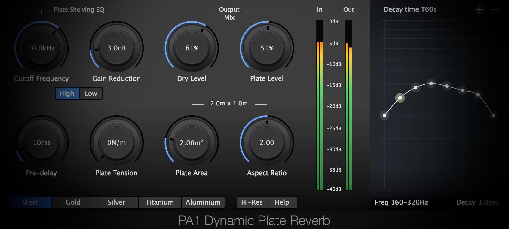 PA1 Dynamic Plate Reverb