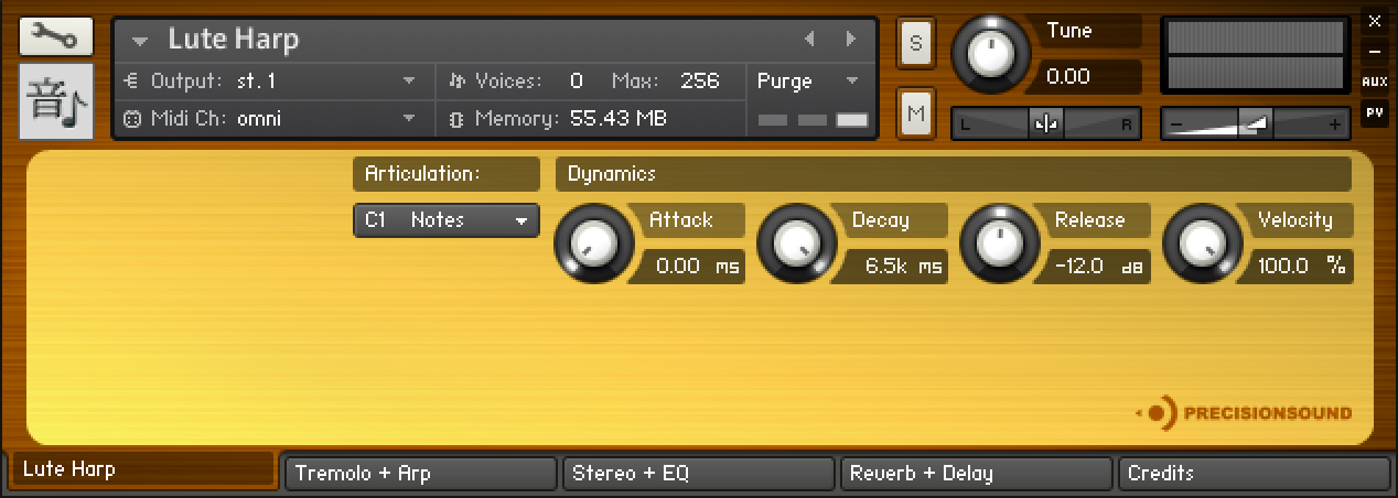 KVR: Precisionsound releases Lute Harp for NI Kontakt and