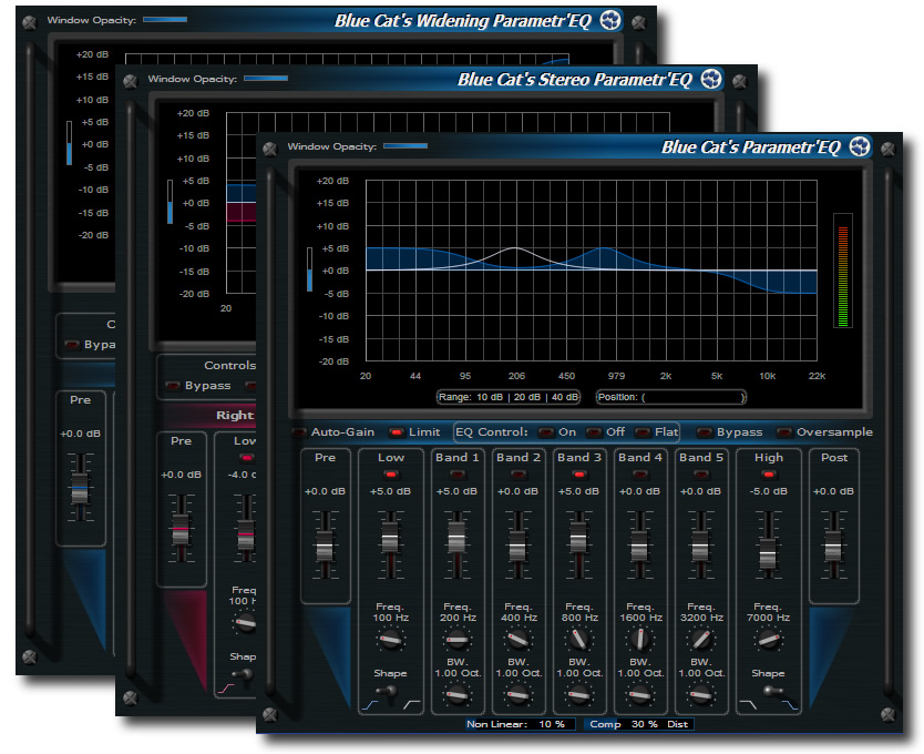 Blue Cat's Parametr'EQ series