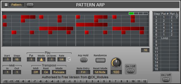 KVR: Pattern Arp Plus by CK_Modules - MIDI Arpeggiator VST ...