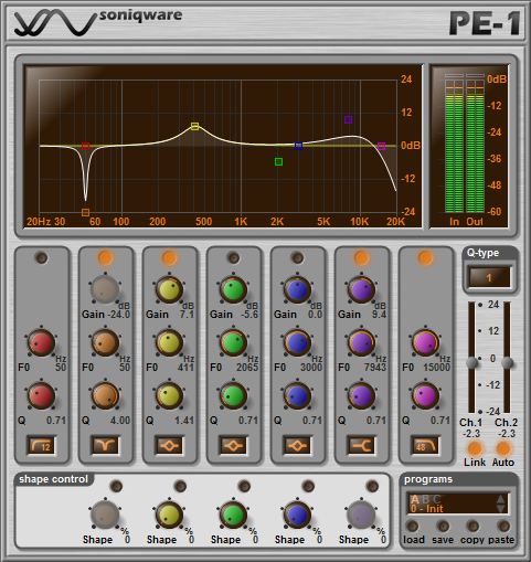 PE-1 Linear Phase Parametric Equalizer