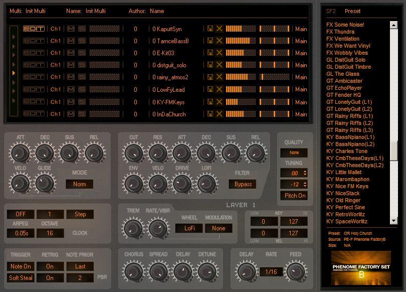 KVR: Phenome by Prodyon - SoundFont Player VST Plugin