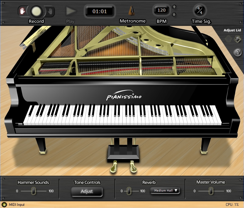 KVR: Pianissimo by Acoustica, Inc  - Piano / Keys VST Plugin