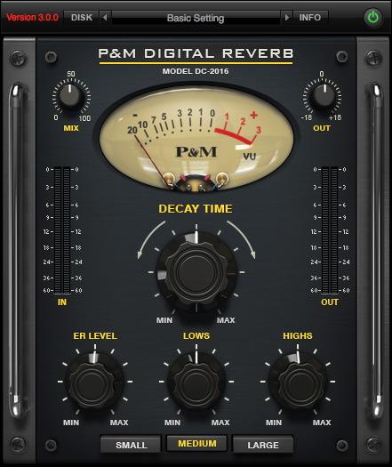 P&M DIGITAL REVERB