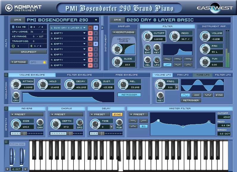 PMI Bosendorfer 290 Grand Piano
