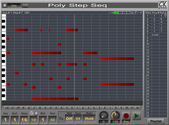 Poly Step Seq (Polyphonic Step Sequencer)