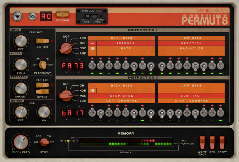 KVR: Permut8 by Sonic Charge - FSU VST Plugin and Audio
