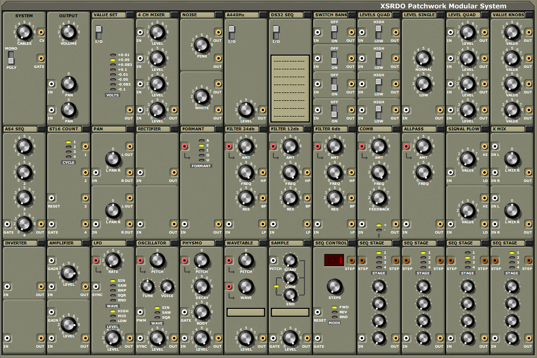 XSRDO Patchwork Modular System