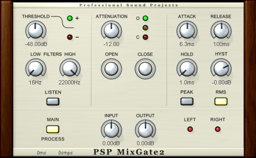 KVR: PSP MixGate by PSPaudioware - Gate VST Plugin, Audio