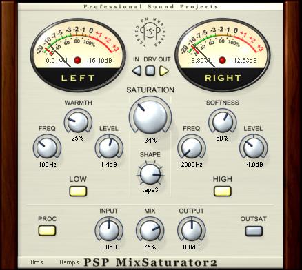 PSP MixSaturator