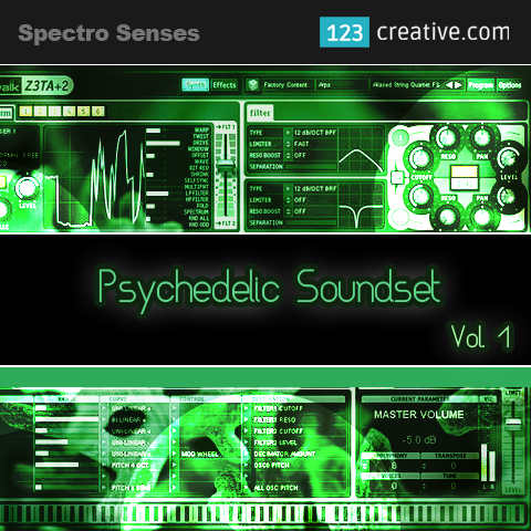 Psychedelic Soundset Vol.1 for Cakewalk Z3TA+2: 123creative.com