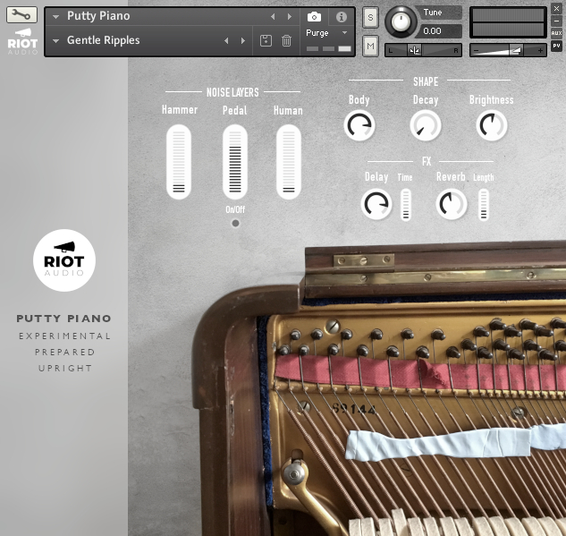 KVR: Riot Audio releases Putty Piano - Prepared Upright Piano Sample