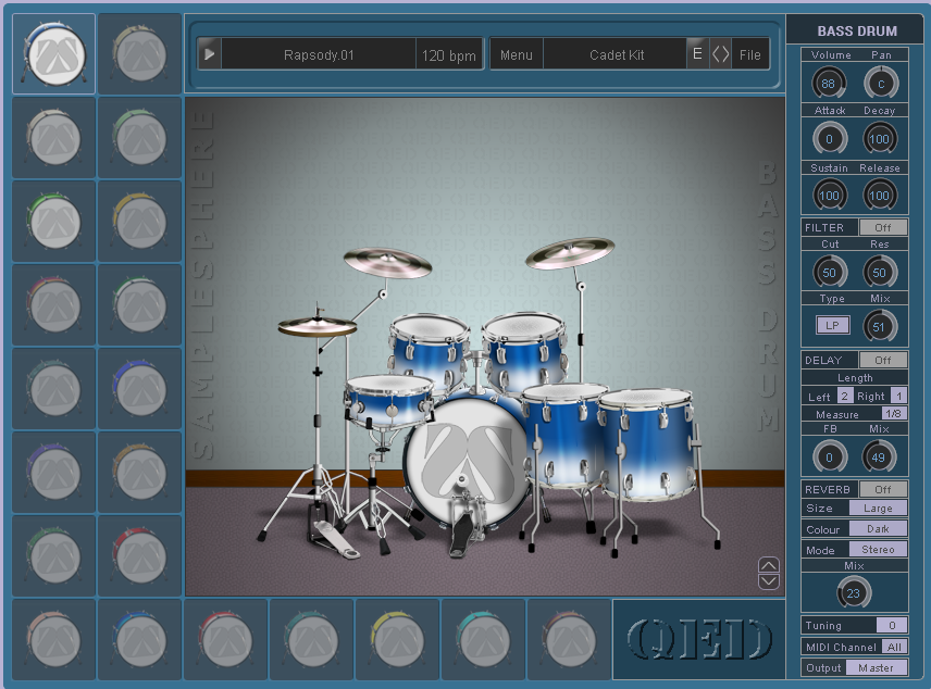 KVR: QED (quick, easy drums ) by Samplesphere - Acoustic Drums VST