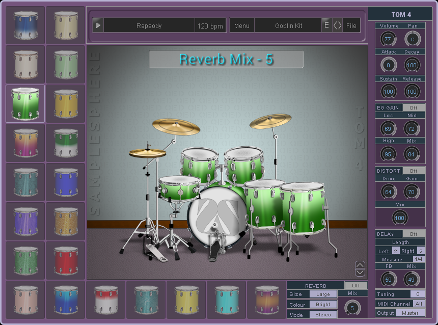 KVR: Samplesphere releases QED - Acoustic Drum Kit Instrument and