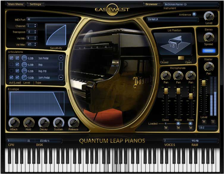 KVR: Pianos Yamaha C7 - Gold by EastWest - Piano VST Plugin