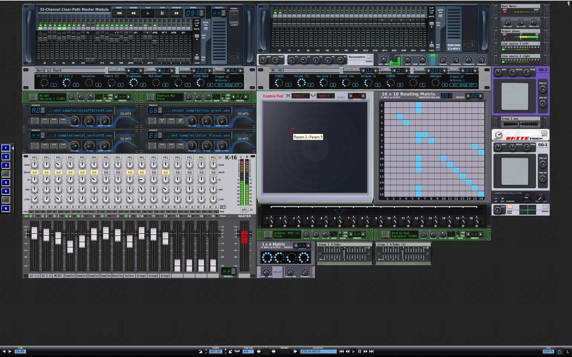 KVR: Rack Performer by Abeem Live Technologies - Modular Environment