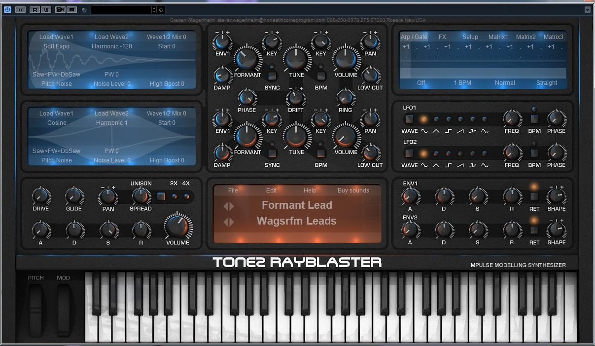 Tone 2 Rayblaster Sound Library