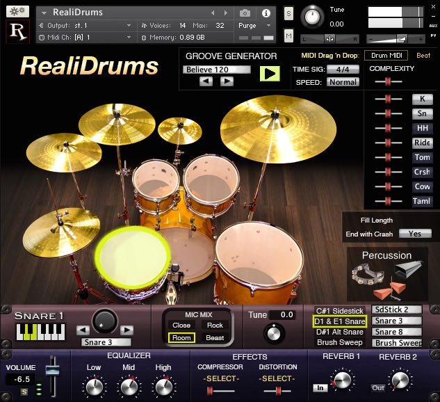 KVR: RealiDrums by Realitone - Drums VST Plugin, Audio Units Plugin