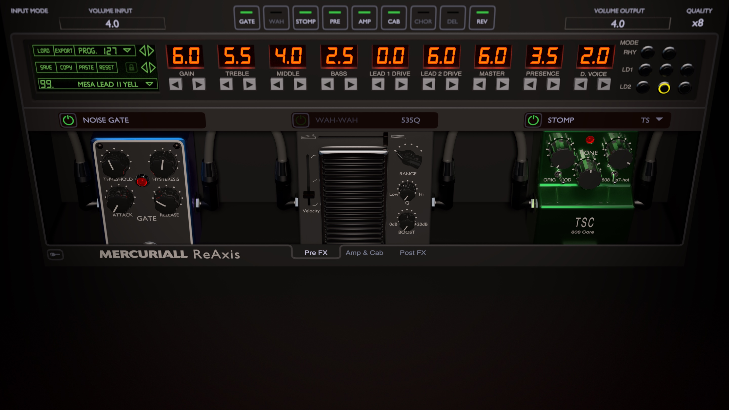 kvr reaxis by mercuriall audio software guitar amp and fx modeling vst plugin audio units. Black Bedroom Furniture Sets. Home Design Ideas