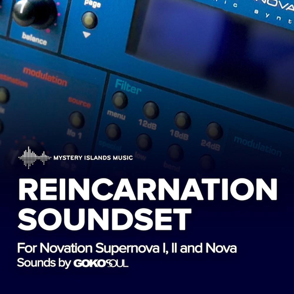 Novation Reincarnation Soundset for Nova / Supernova series