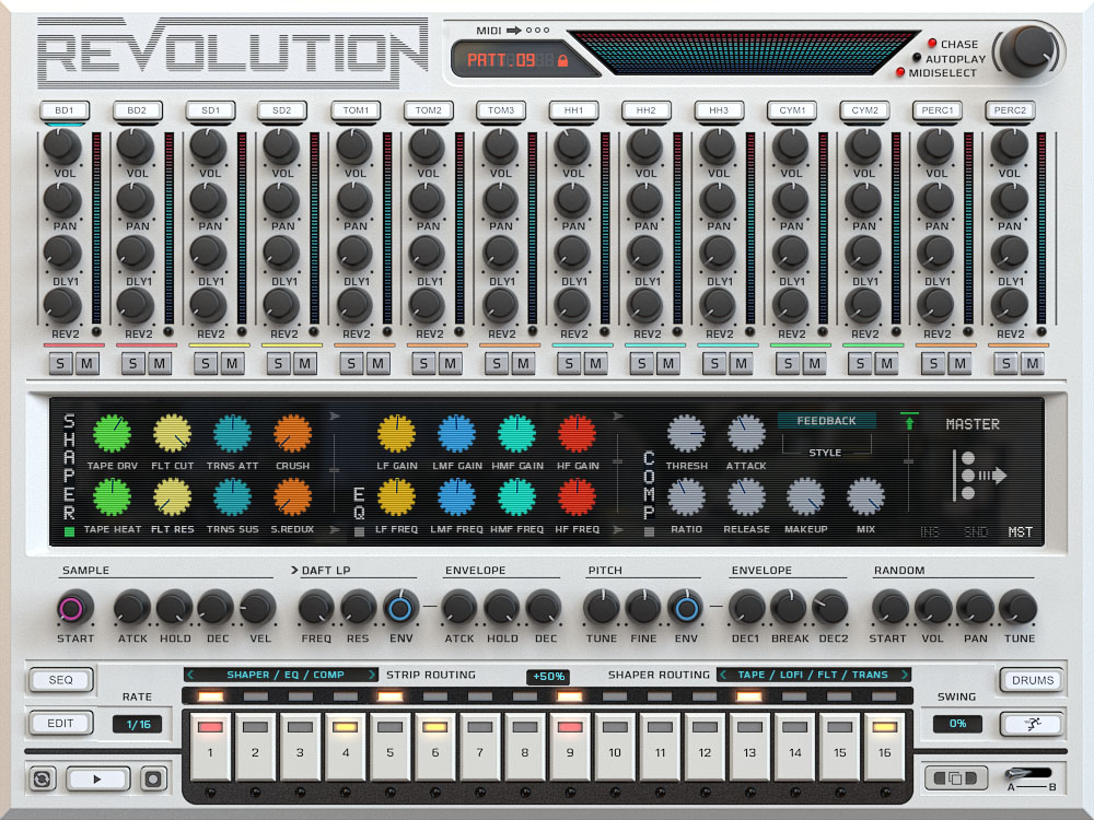 kvr revolution by wave alchemy drum machine vst plugin audio units plugin and aax plugin. Black Bedroom Furniture Sets. Home Design Ideas