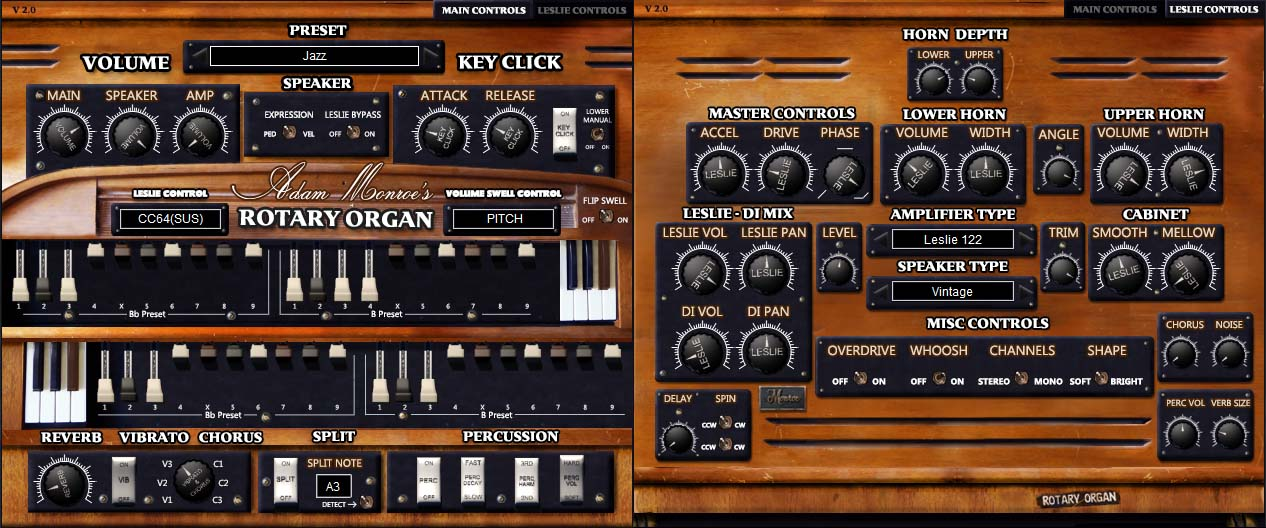 Adam Monroe Organ Plugin
