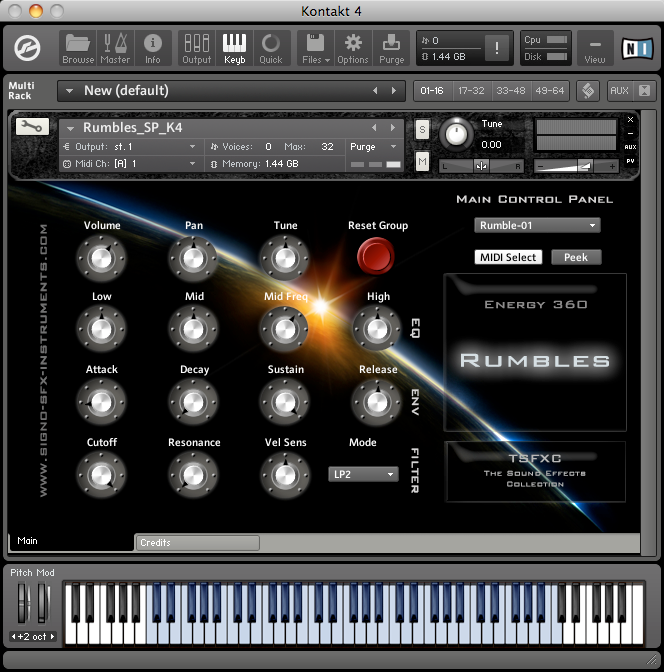 Rumbles SFX-Instrument