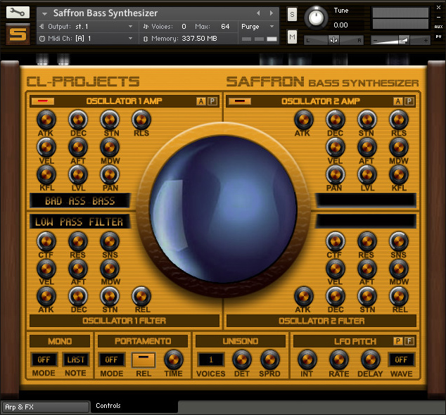 Saffron Bass Synthesizer