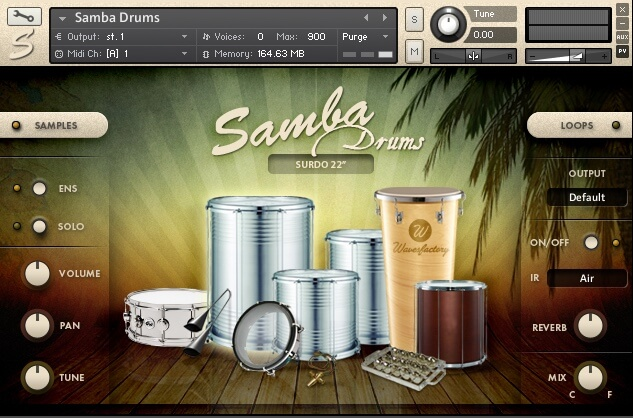 Wavesfactory Samba Drums