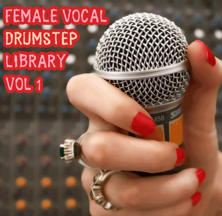Drumstep Female Vocal Sample Library Vol 1 – 175 bpm 100 phrases and licks vocal pack