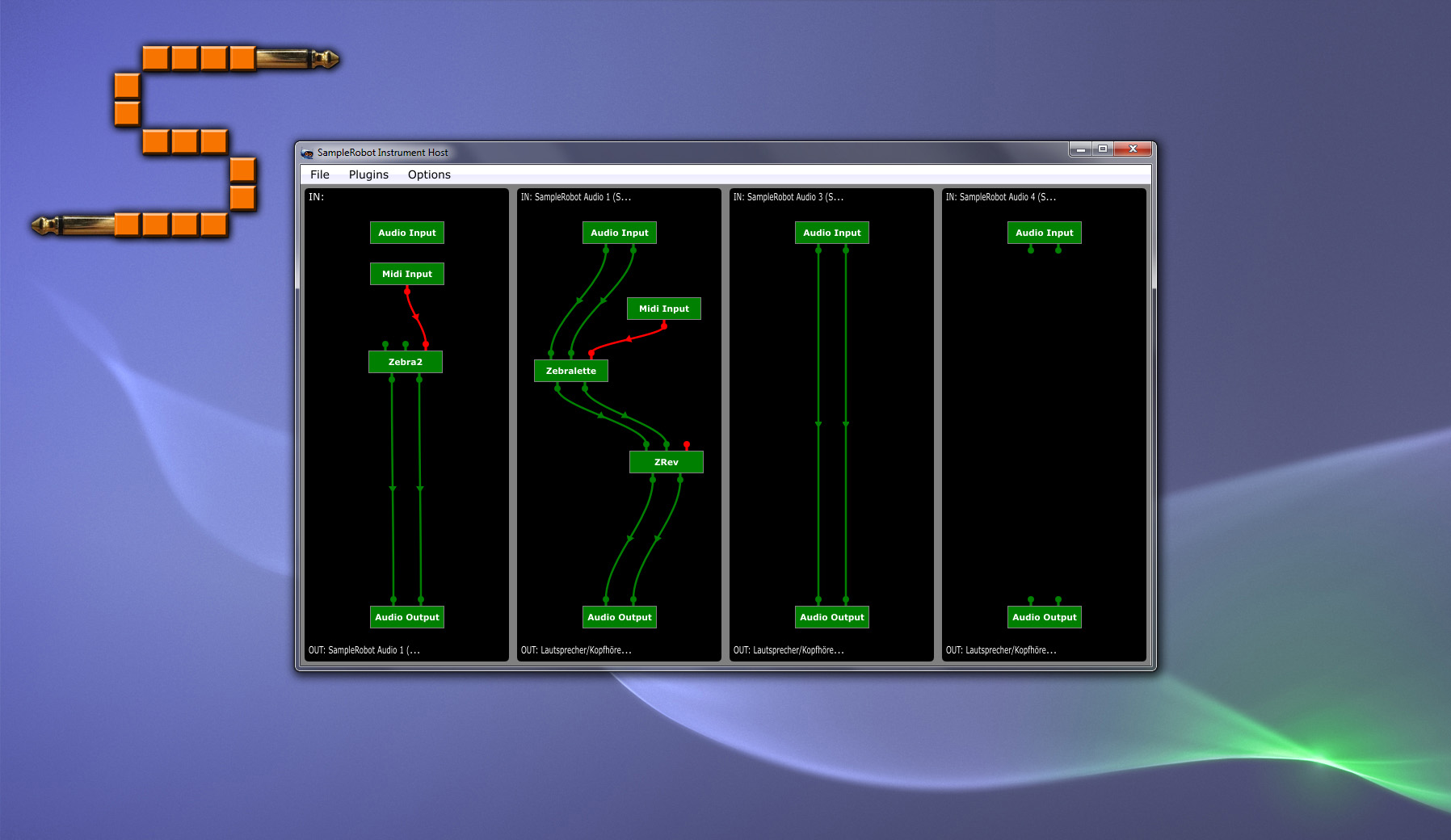 SampleRobot Virtual Cable + Instrument Host