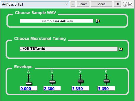 Simple Microtonal Sampler