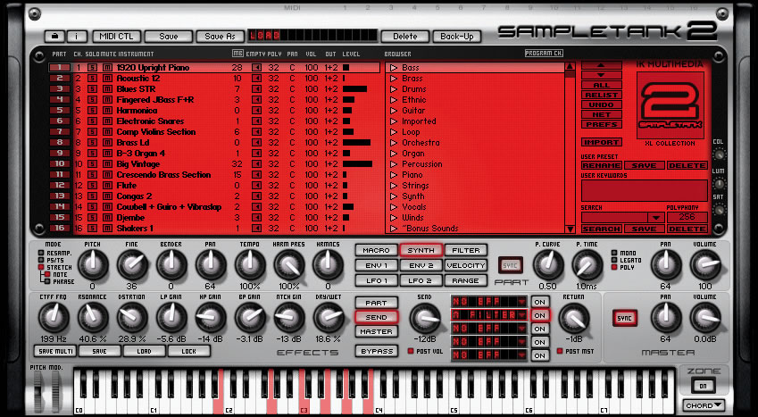 Elektronika chillout sound library for sampletank is free at ik.
