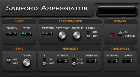 KVR: Sanford Arpeggiator by Sanford Sound Design - MIDI FX ...