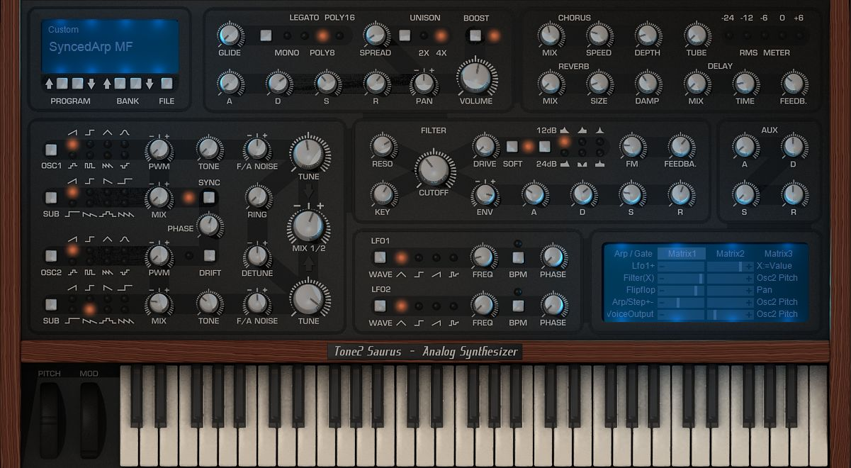 Saurus Analog Synthesizer
