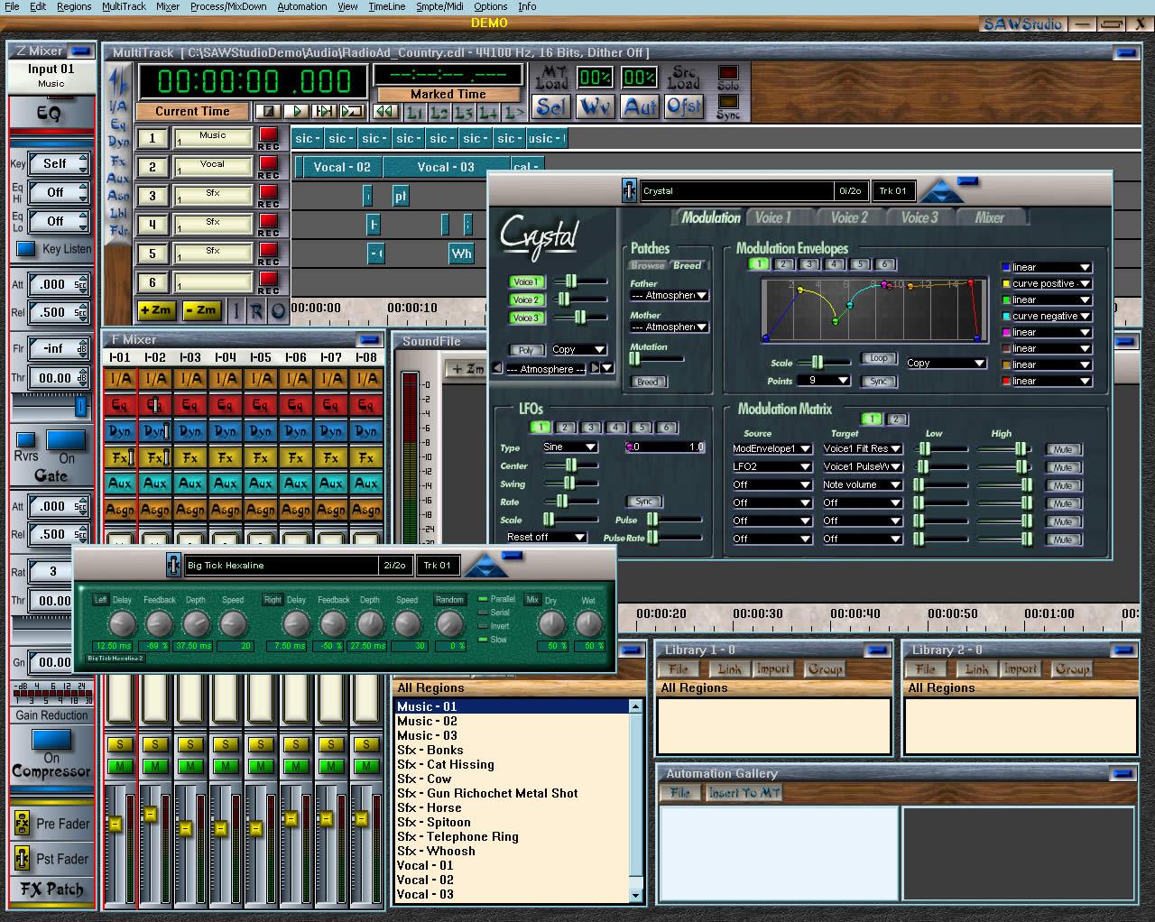 Для обработки звука sawstudio бесплатно