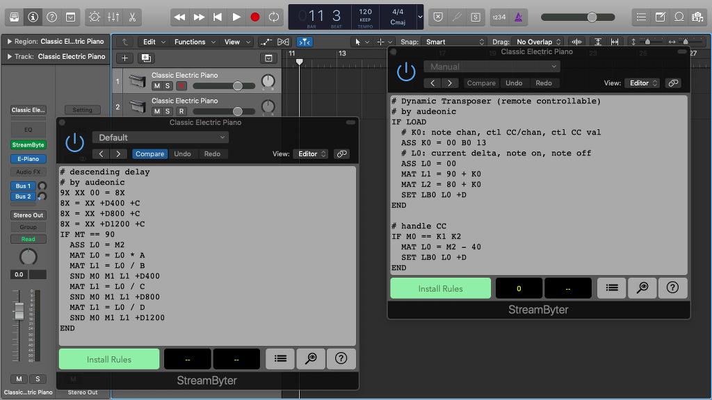 KVR: StreamByter by Audeonic Apps - MIDI Effect Audio Units Plugin