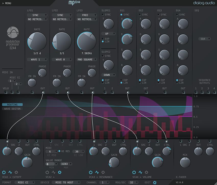 KVR: Modulation Processor 3244 by Dialog Audio - Modulation FX VST