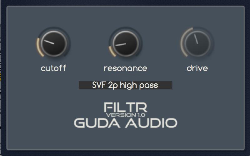 KVR: GuDa Audio releases FiltR - Free Filter Plugin