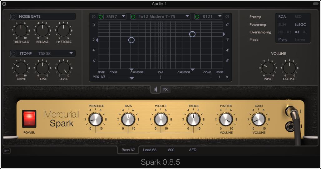 kvr spark by mercuriall audio software guitar amp and fx modeling vst plugin audio units. Black Bedroom Furniture Sets. Home Design Ideas
