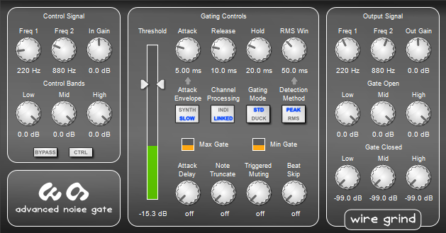 Kvr Advanced Noise Gate By Wire Grind Gate Vst Plugin